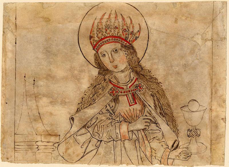 By Anonymous - Universitätsbibliothek Salzburg, Handzeichnung H 2, httpwww.ubs.sbg.ac.atsosagraphikenhandzeichnungen.htm; aus F II 347 (VD 16 G 1471) abgelöst. Vorbesitzer Karthaus
